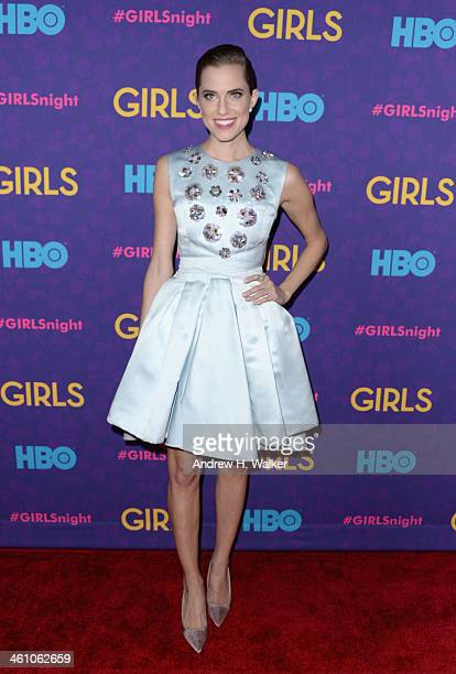 Actress Allison Williams attends the 'Girls' season three premiere at Jazz at Lincoln Center on January 6 2014 in New York City