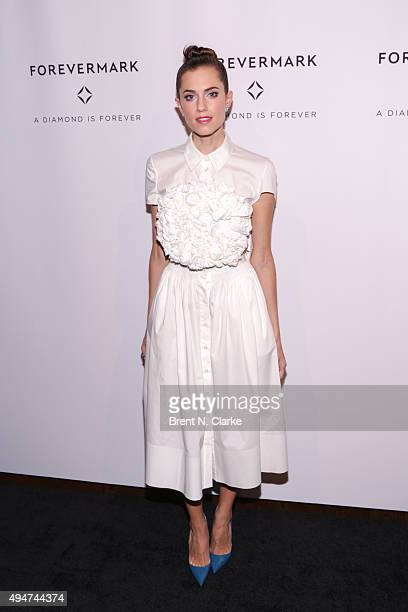 Actress Allison Williams attends the New York premiere of 'The One' held at Stephen Weiss Studio on October 28 2015 in New York City