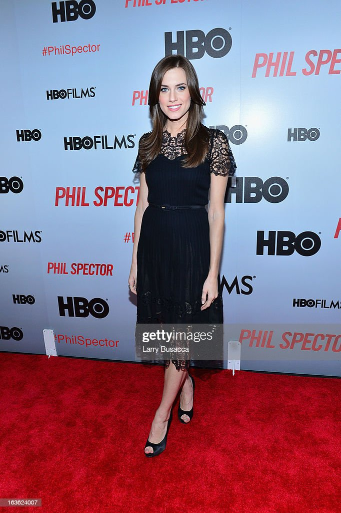 Actress Allison Williams attends the 'Phil Spector' premiere at the Time Warner Center on March 13, 2013 in New York City.