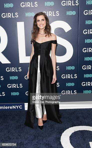 Actress Allison Williams attends the the New York premiere of the sixth and final season of 'Girls' at Alice Tully Hall Lincoln Center on February 2...