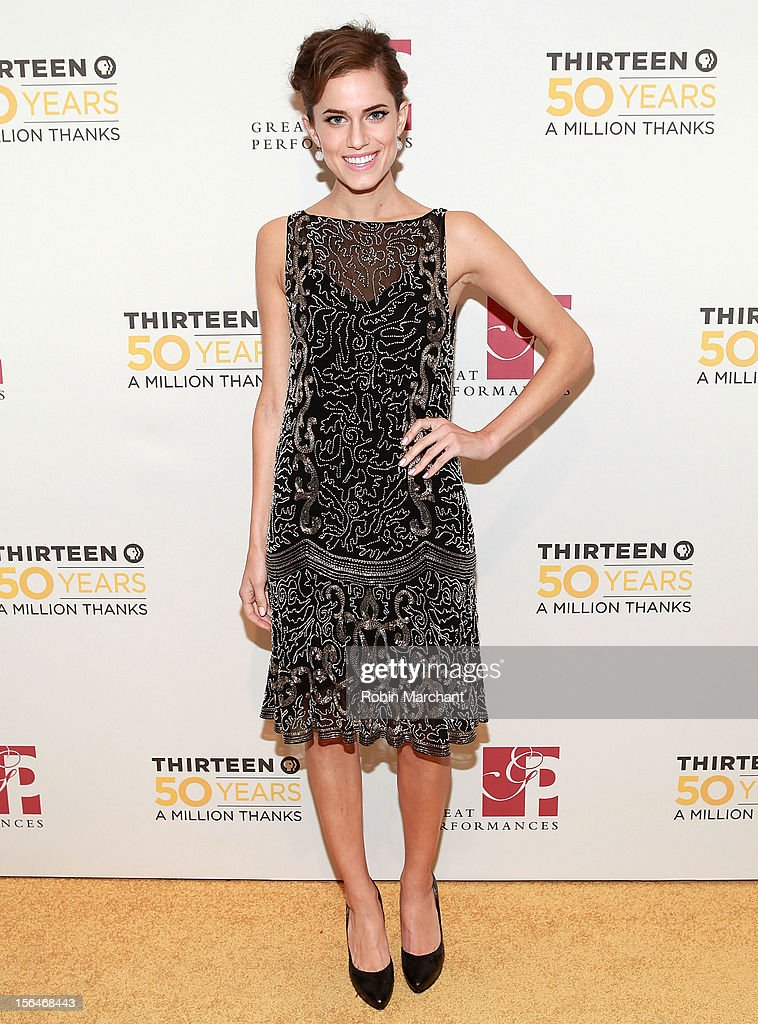 Actress Allison Williams attends the THIRTEEN 50th Anniversary Gala Salute at David Koch Theatre at Lincoln Center on November 15, 2012 in New York City.