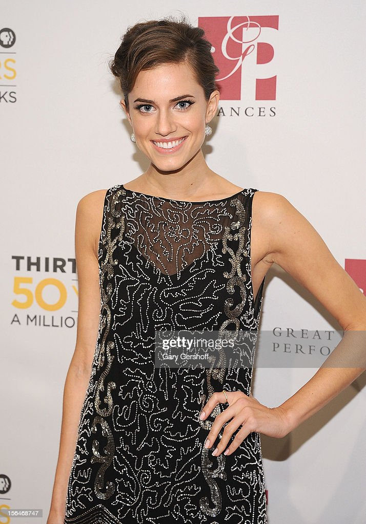Actress Allison Williams attends the THIRTEEN 50th Anniversary Gala Salute at the David H. Koch Theater, Lincoln Center on November 15, 2012 in New York City.
