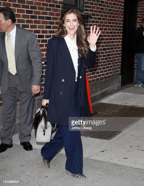 Actress Allison Williams departs 'Late Show with David Lettermant' at Ed Sullivan Theater on April 3 2012 in New York City