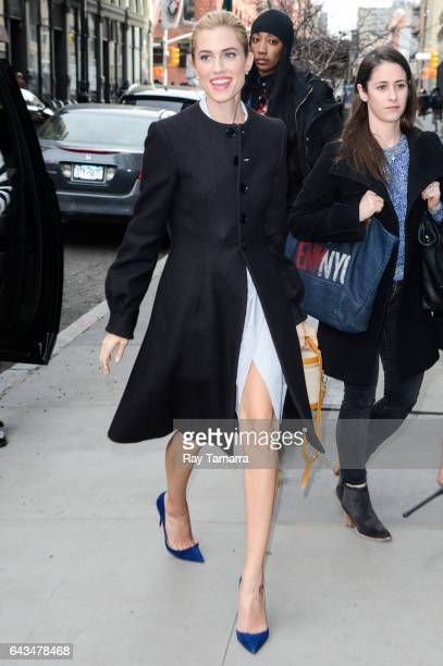 Actress Allison Williams enters the 'AOL Build' taping at the AOL Studios on February 21 2017 in New York City