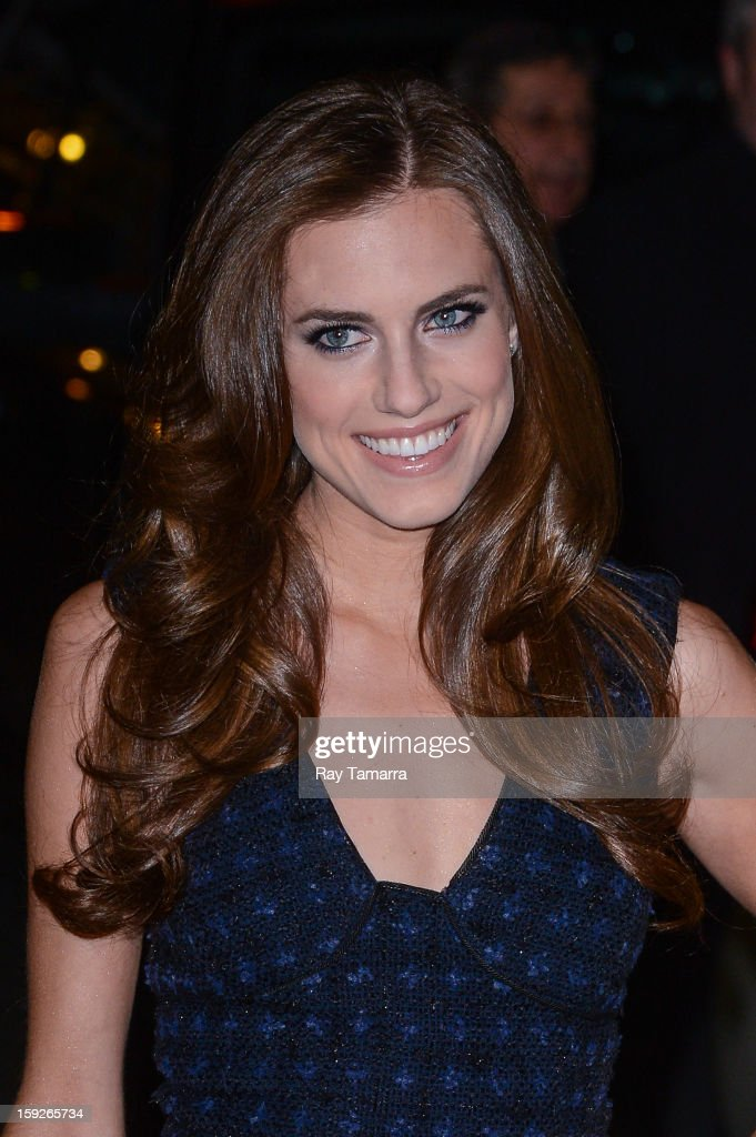Actress Allison Williams enters the 'Late Show With David Letterman' taping at the Ed Sullivan Theater on January 10, 2013 in New York City.