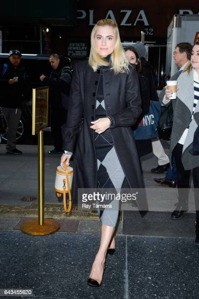 Actress Allison Williams enters the 'Today Show' taping at the NBC Rockefeller Center Studios on February 21 2017 in New York City