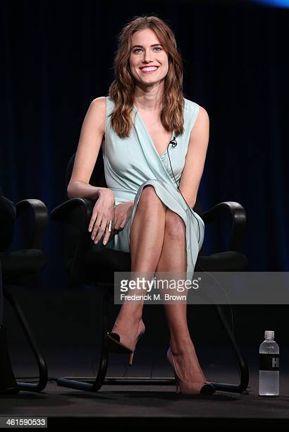 Actress Allison Williams speaks onstage during the 'Girls' panel discussion at the HBO portion of the 2014 Winter Television Critics Association tour...