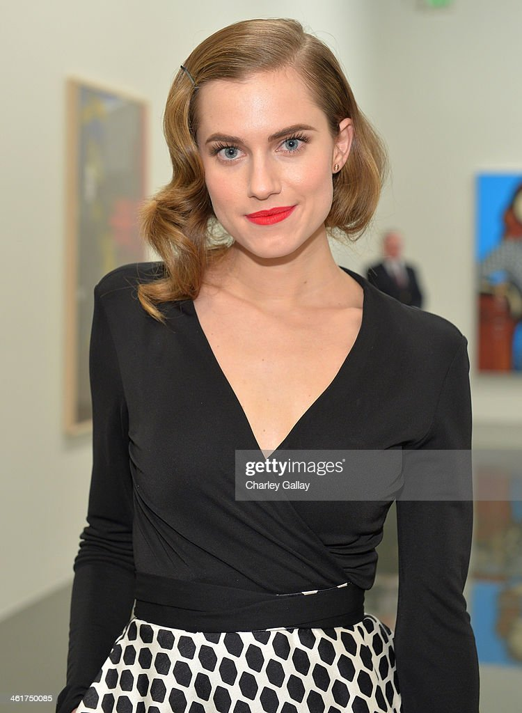 Actress <a gi-track='captionPersonalityLinkClicked' href=/galleries/search?phrase=Allison+Williams+-+Actress&family=editorial&specificpeople=594198 ng-click='$event.stopPropagation()'>Allison Williams</a>, wearing Diane Von Furstenberg, attends Diane Von Furstenberg's Journey of A Dress Exhibition Opening Celebration at May Company Building at LACMA West on January 10, 2014 in Los Angeles, California.