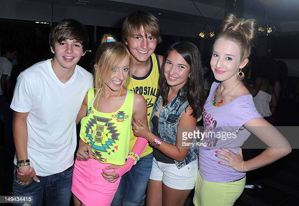 Actress Allisyn Ashley Arm and Drew Patrick and guests attend Sterling Beaumon's Summer Bash on July 27 2012 in Hollywood California