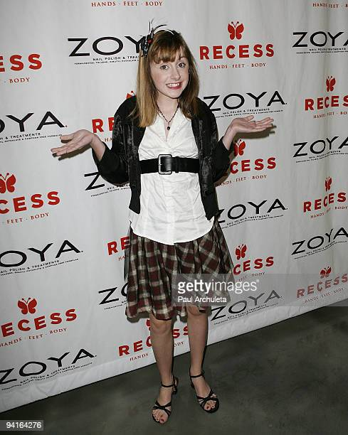 Actress Allisyn Ashley Arm arrives at Recess LA 'Beauty For A Cause' Holiday Toy Drive Event on December 8 2009 in Los Angeles California