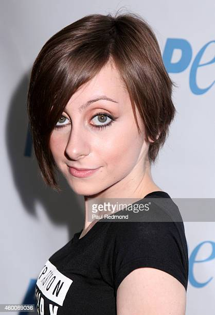 Actress Allisyn Ashley Arm attends PETA/Animal Place Chicken Adoption Event at The Bob Barker Building on December 6 2014 in Los Angeles California