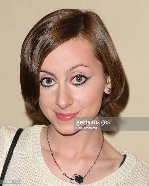Actress Allisyn Ashley Arm attends 'Twintastic' opening night at El Portal Theatre on March 19 2015 in North Hollywood California