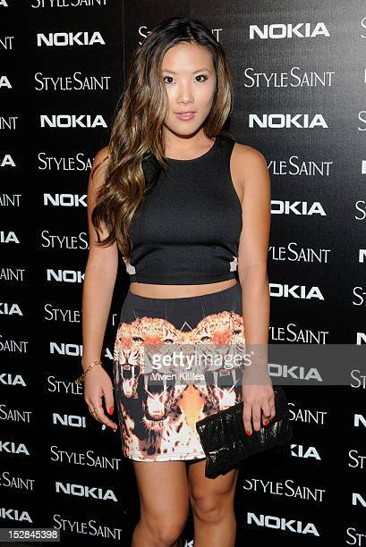 Actress Ally Maki attends Nokia Joins With StyleSaint To Celebrate The Launch Of The Mobile Fashion App on September 26 2012 in Los Angeles California