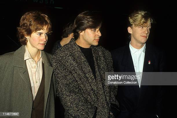 Actress Ally Sheedy actor Judd Nelson and actor Anthony Michael Hall pose for a portrait in 1986 in Los Angeles California