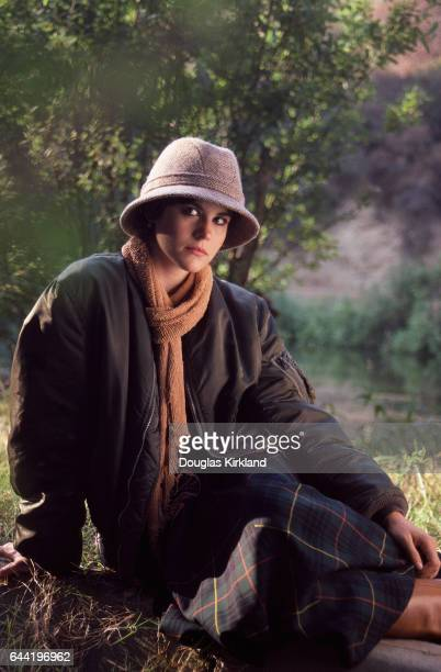 Actress Ally Sheedy in Hat and Skirt