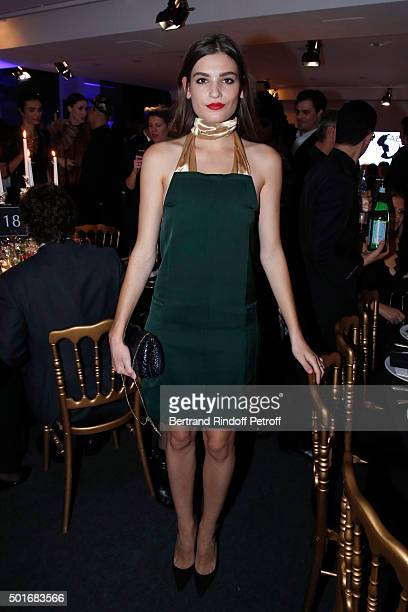 Actress Alma Jodorowsky dressed in Nina Ricci attends the Annual Charity Dinner hosted by the AEM Association Children of the World for Rwanda Held...
