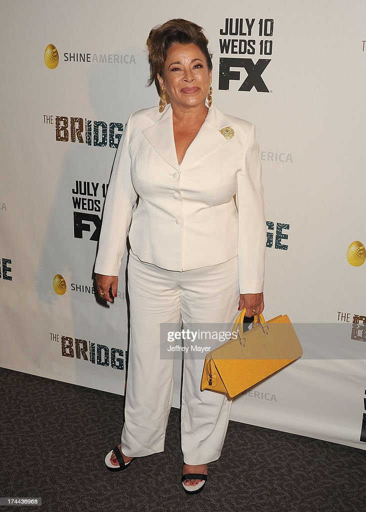 Actress Alma Martinez arrives at the Series Premiere Of FX's 'The Bridge' at DGA Theater on July 8, 2013 in Los Angeles, California.