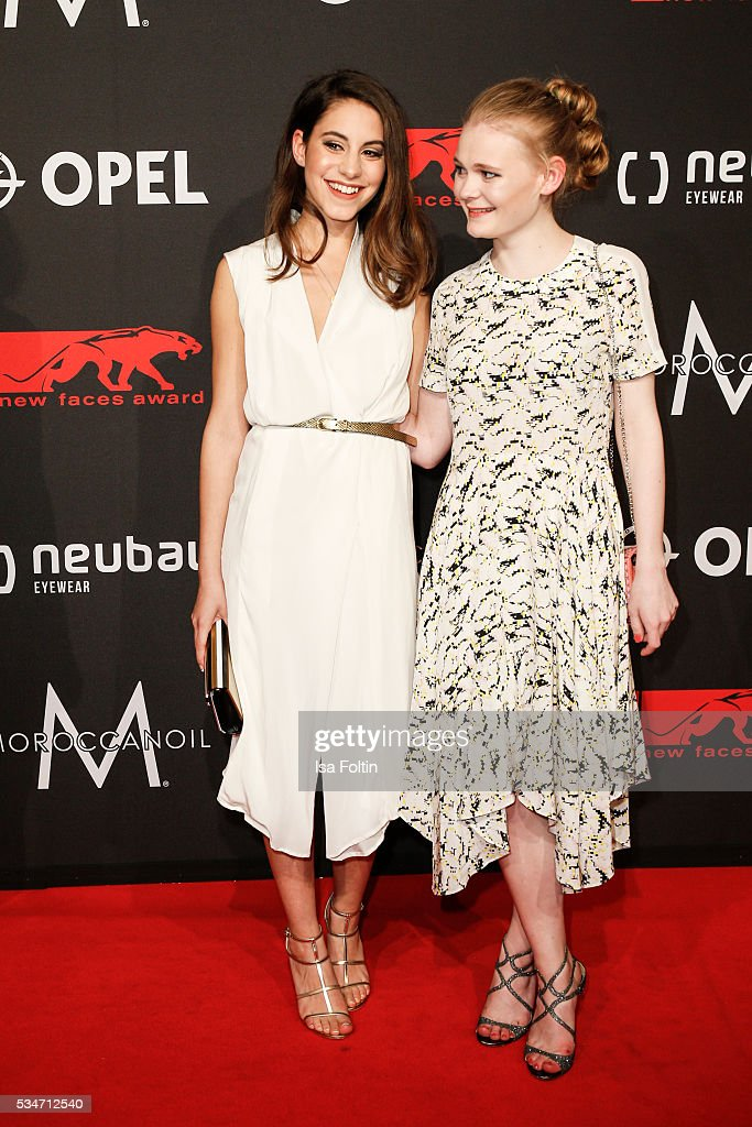 Actress Almila Bagnacik and actress Gro Swantje Kohlhof attend the New Faces Award Film 2016 at ewerk on May 26, 2016 in Berlin, Germany.