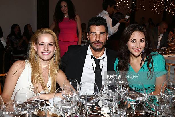 Actress Altair Jarabo Uriel Del Toro and Zuria Vega attend the Glamour magazine Mexico Beauty Awards 2013 at Estacion Indianillas on February 7 2013...