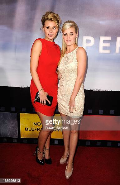 Actress Aly Michalka and Amanda Michalka arrives at Paramount Pictures' 'Super 8' Bluray and DVD release party at AMPAS Samuel Goldwyn Theater on...