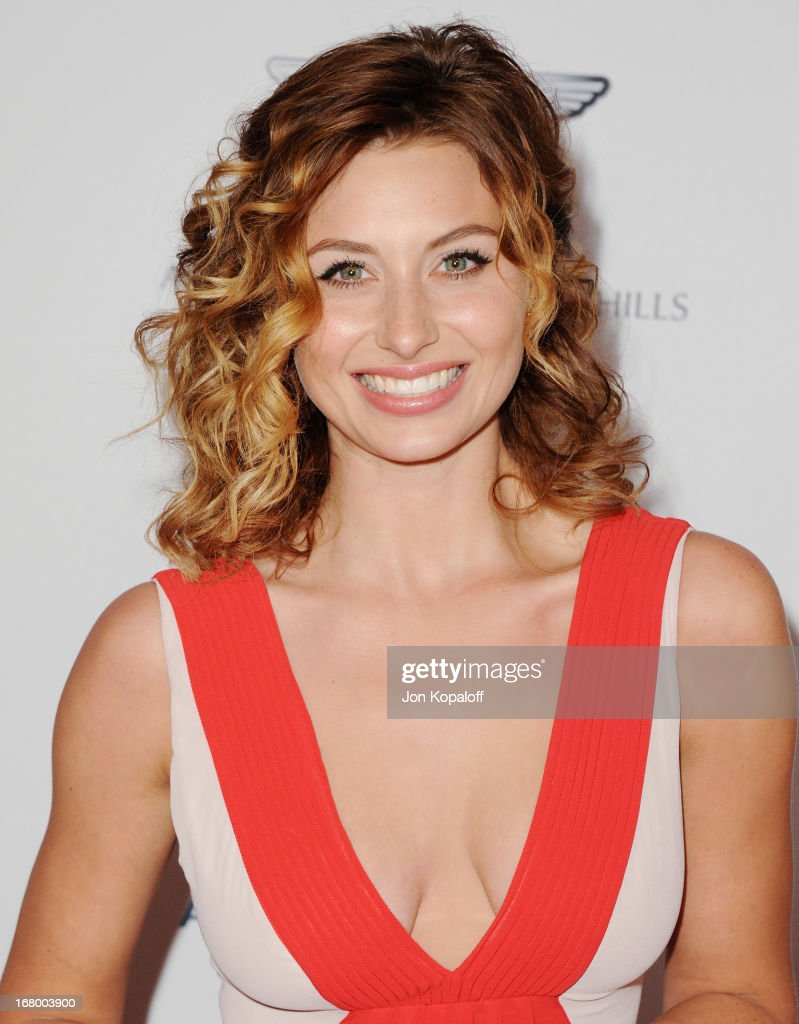 Actress Aly Michalka arrives at the 20th Annual Race To Erase MS 'Love To Erase MS' Gala at the Hyatt Regency Century Plaza on May 3, 2013 in Century City, California.