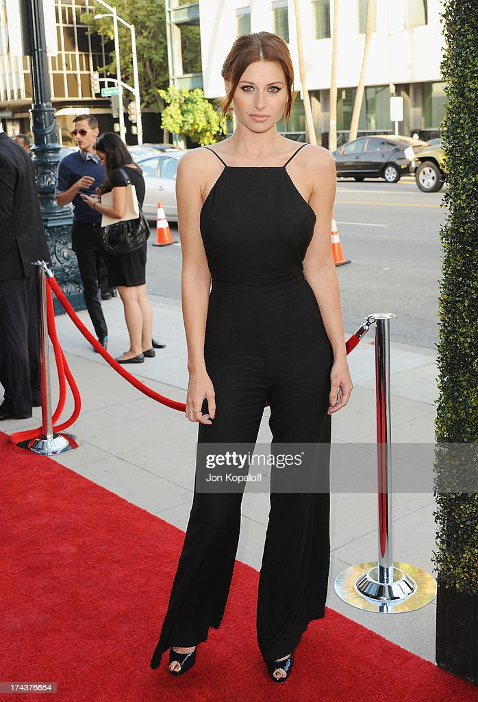 Actress Aly Michalka arrives at the Los Angeles Premiere 'Blue Jasmine' at the Academy of Motion Picture Arts and Sciences on July 24, 2013 in Beverly Hills, California.