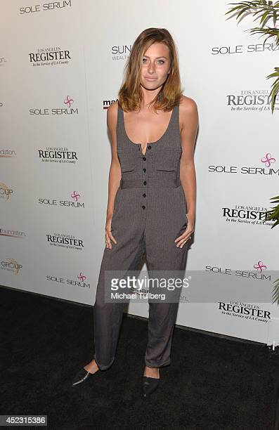 Actress Aly Michalka attends the Matt Leinart Foundation's 8th Annual Celebrity Bowl at Lucky Strike Bowling Alley on July 17 2014 in Hollywood...