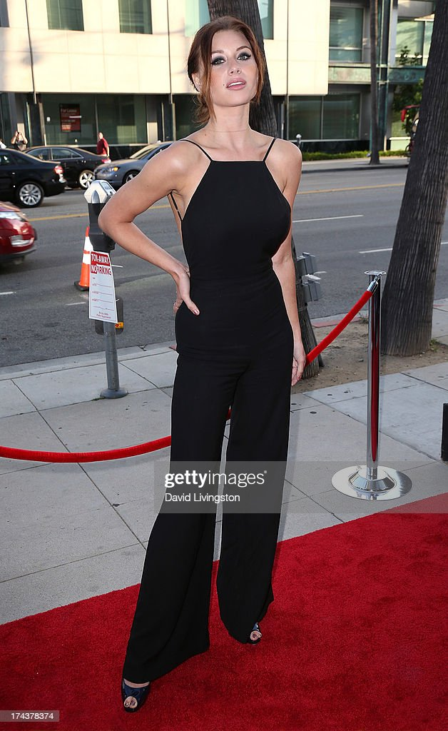 Actress Aly Michalka attends the premiere of 'Blue Jasmine' hosted by the AFI & Sony Picture Classics at the AMPAS Samuel Goldwyn Theater on July 24, 2013 in Beverly Hills, California.