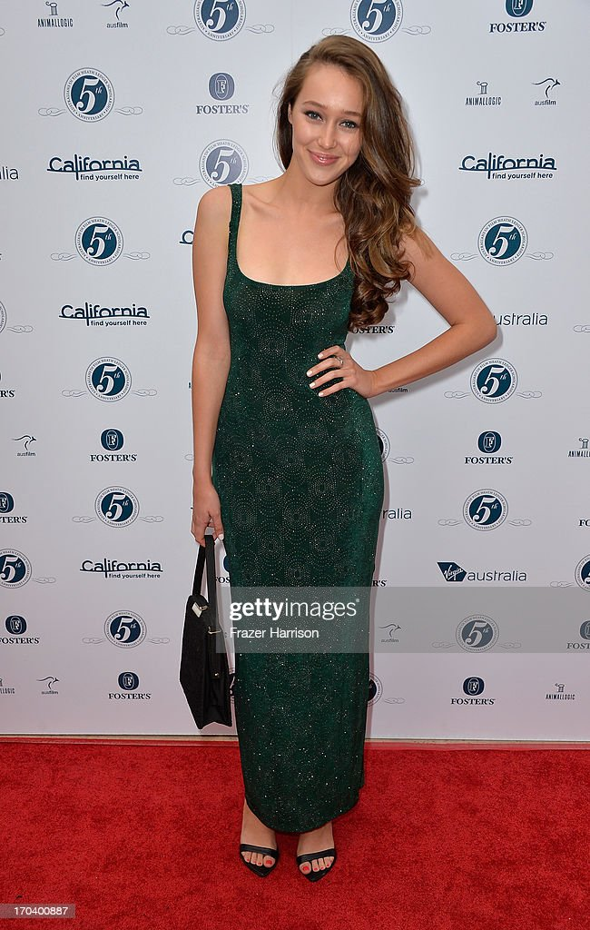 Actress Alycia Debnam Carey attends the Australians In Film and Heath Ledger Scholarship Host 5th Anniversary Benefit Dinner on June 12, 2013 in Los Angeles, California.