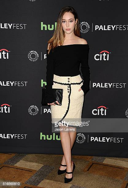 Actress Alycia Debnam Carey attends the 'Fear The Walking Dead' event at the 33rd annual PaleyFest at Dolby Theatre on March 19 2016 in Hollywood...