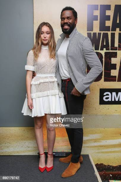 Actress Alycia DebnamCarey and actor Colman Domingo attend a press conference to promote the series 'Fear The Walking Dead' Season 3 at W Hotel on...