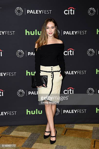 Actress Alycia DebnamCarey arrives at The Paley Center For Media's 33rd Annual PaleyFest Los Angeles presentation of 'Fear The Walking Dead' at Dolby...
