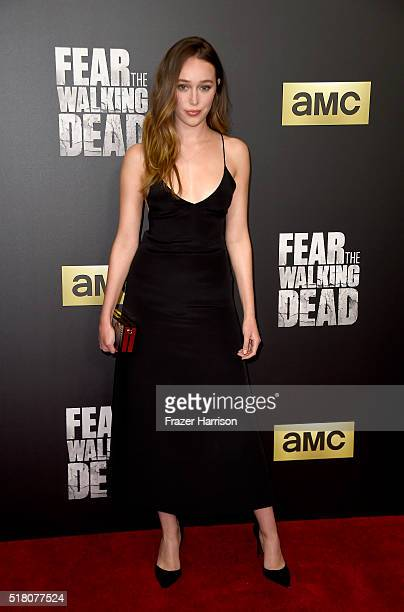 Actress Alycia DebnamCarey attends the premiere of AMC's 'Fear The Walking Dead' Season 2 at Cinemark Playa Vista on March 29 2016 in Los Angeles...