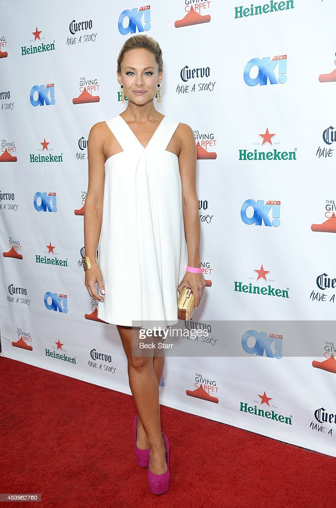 Actress Alyshia Ochse arrives at OK! TV Emmy pre-awards party honoring the Emmy nominees and presenters at Sofitel Hotel on August 21, 2014 in Los Angeles, California.