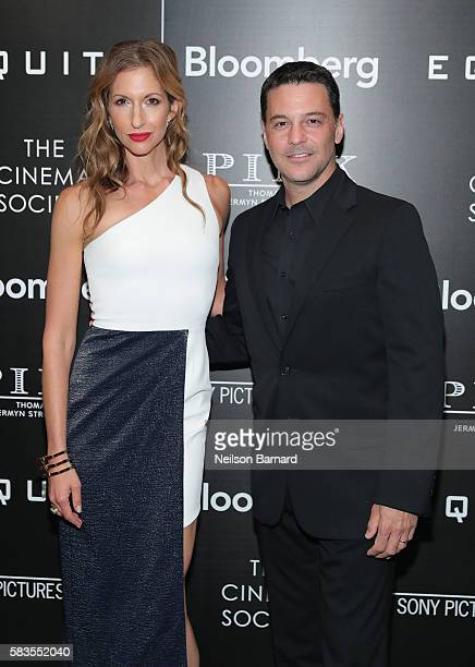 Actress Alysia Reiner and David Alan Basche attend a screening of Sony Pictures Classics' 'Equity' hosted by The Cinema Society with Bloomberg and...