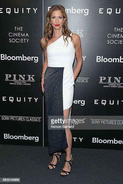Actress Alysia Reiner attends a screening of Sony Pictures Classics' 'Equity' hosted by The Cinema Society with Bloomberg and Thomas Pink at The...