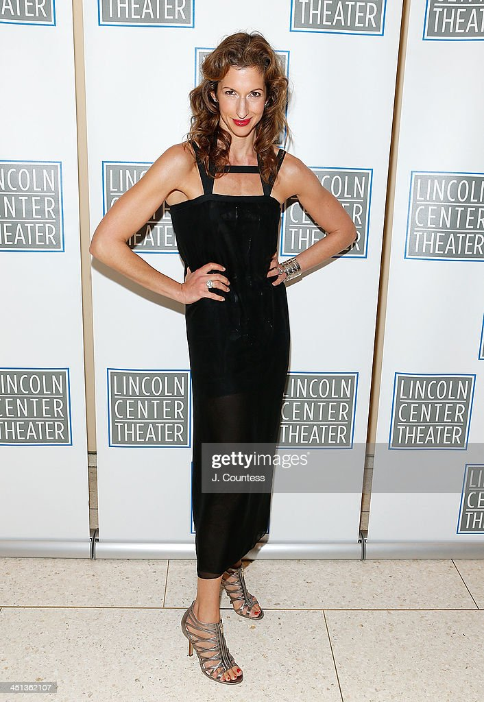 Actress <a gi-track='captionPersonalityLinkClicked' href=/galleries/search?phrase=Alysia+Reiner&family=editorial&specificpeople=655685 ng-click='$event.stopPropagation()'>Alysia Reiner</a> attends the afterparty for the opening night of 'Shakespeare's Macbeth' at Avery Fisher Hall, Lincoln Center on November 21, 2013 in New York City.