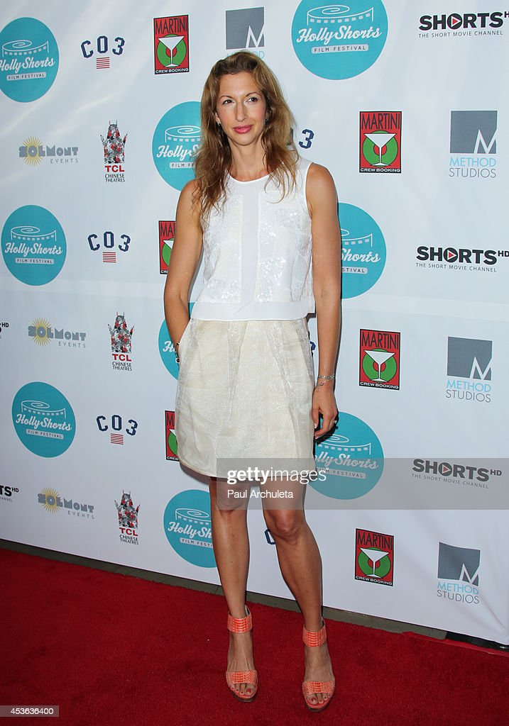 Actress <a gi-track='captionPersonalityLinkClicked' href=/galleries/search?phrase=Alysia+Reiner&family=editorial&specificpeople=655685 ng-click='$event.stopPropagation()'>Alysia Reiner</a> attends the HollyShorts opening night gala at the TCL Chinese Theatre on August 14, 2014 in Hollywood, California.