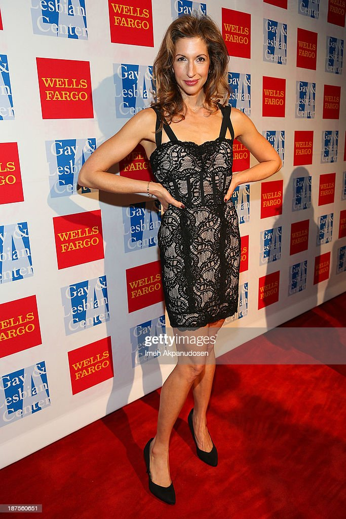 Actress <a gi-track='captionPersonalityLinkClicked' href=/galleries/search?phrase=Alysia+Reiner&family=editorial&specificpeople=655685 ng-click='$event.stopPropagation()'>Alysia Reiner</a> attends the L.A. Gay & Lesbian Center's 42nd Anniversary Vanguard Awards Gala at Westin Bonaventure Hotel on November 9, 2013 in Los Angeles, California.