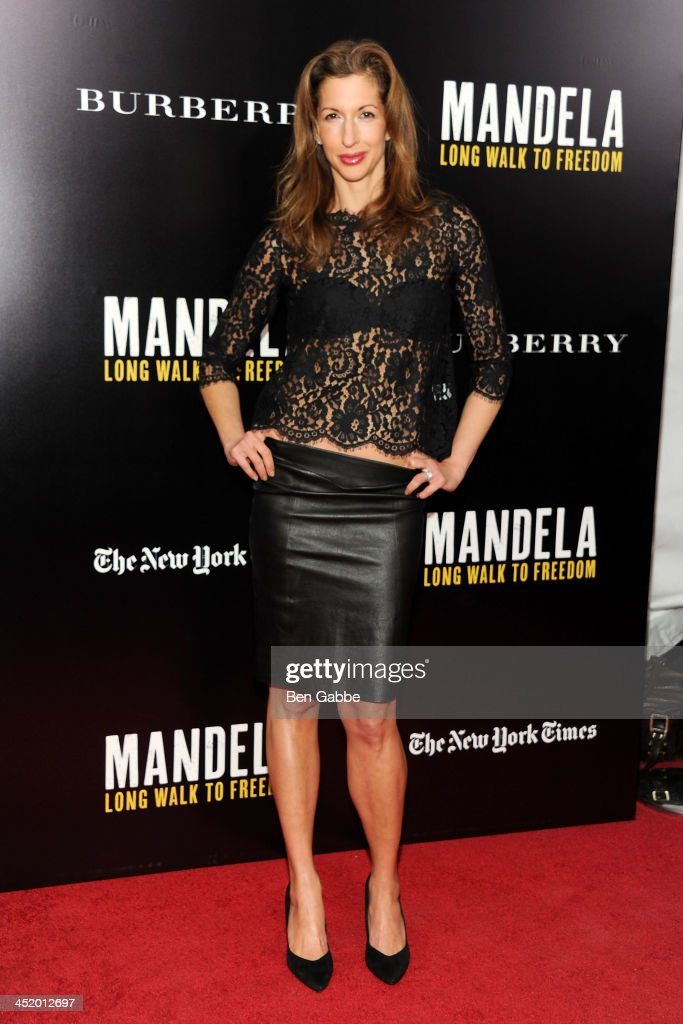 Actress Alysia Reiner attends the screening of 'Mandela: Long Walk to Freedom', hosted by U2, Anna Wintour and Bob & Harvey Weinstein, with Burberry at the Ziegfeld Theater on November 25, 2013 in New York City.