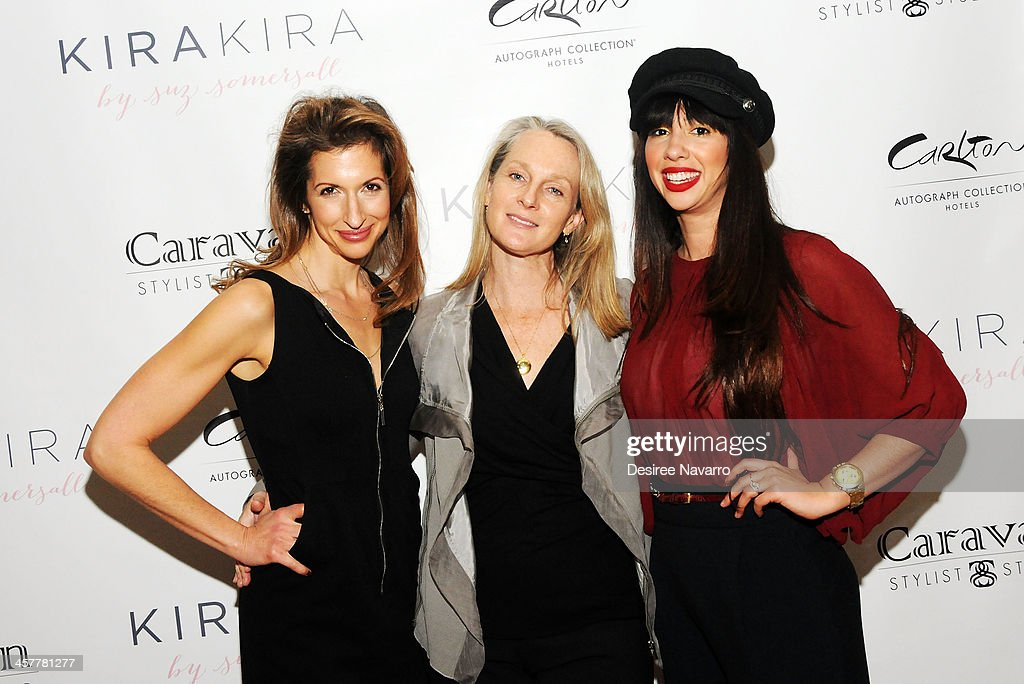 Actress Alysia Reiner, author Piper Kerman and actress Jackie Cruz attend the 'Orange Is The New Black - My Year In Women's Prison' charity book shopping experience at Carlton Hotel on December 18, 2013 in New York City.