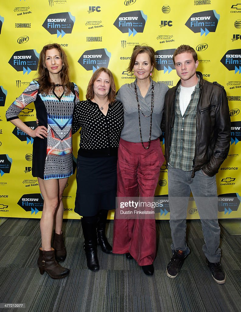 Actress <a gi-track='captionPersonalityLinkClicked' href=/galleries/search?phrase=Alysia+Reiner&family=editorial&specificpeople=655685 ng-click='$event.stopPropagation()'>Alysia Reiner</a>, director Jen McGowan and actors <a gi-track='captionPersonalityLinkClicked' href=/galleries/search?phrase=Margaret+Colin&family=editorial&specificpeople=960975 ng-click='$event.stopPropagation()'>Margaret Colin</a> and <a gi-track='captionPersonalityLinkClicked' href=/galleries/search?phrase=Jonny+Weston&family=editorial&specificpeople=8809342 ng-click='$event.stopPropagation()'>Jonny Weston</a> attend the 'Kelly & Cal' Photo Op and Q&A during the 2014 SXSW Music, Film + Interactive Festival at Rollins Theatre at The Long Center on March 7, 2014 in Austin, Texas.