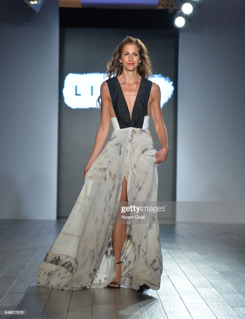 Actress Alysia Reiner walks the runway at the Livari By Alysia Reiner, Claudine De Sola & Tabitha St. Bernard-Jacobs fashion show during New York Fashion Week: Style360 at Metropolitan Pavilion on September 13, 2017 in New York City.