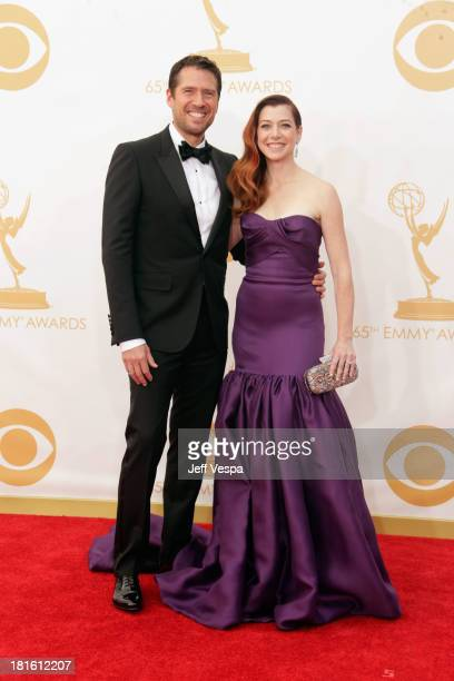 Actress Alyson Hannigan and Alexis Denisof arrive at the 65th Annual Primetime Emmy Awards held at Nokia Theatre LA Live on September 22 2013 in Los...