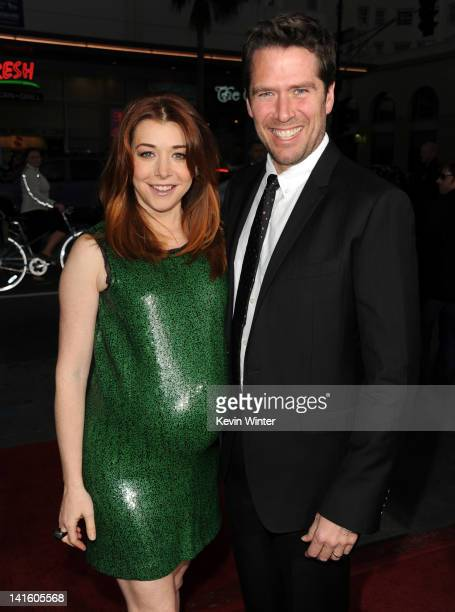 Actress Alyson Hannigan and Alexis Denisof arrive at the premiere of Universal Pictures' 'American Reuinion' at Grauman's Chinese Theatre on March 19...