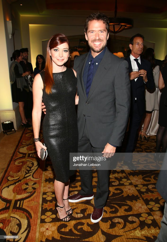 Actress <a gi-track='captionPersonalityLinkClicked' href=/galleries/search?phrase=Alyson+Hannigan&family=editorial&specificpeople=206497 ng-click='$event.stopPropagation()'>Alyson Hannigan</a> and <a gi-track='captionPersonalityLinkClicked' href=/galleries/search?phrase=Alexis+Denisof&family=editorial&specificpeople=817794 ng-click='$event.stopPropagation()'>Alexis Denisof</a> attend Equality Now presents 'Make Equality Reality' at Montage Hotel on November 4, 2013 in Los Angeles, California.