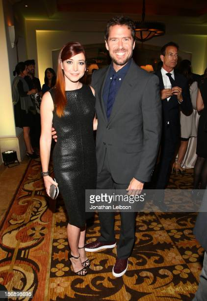 Actress Alyson Hannigan and Alexis Denisof attend Equality Now presents 'Make Equality Reality' at Montage Hotel on November 4 2013 in Los Angeles...