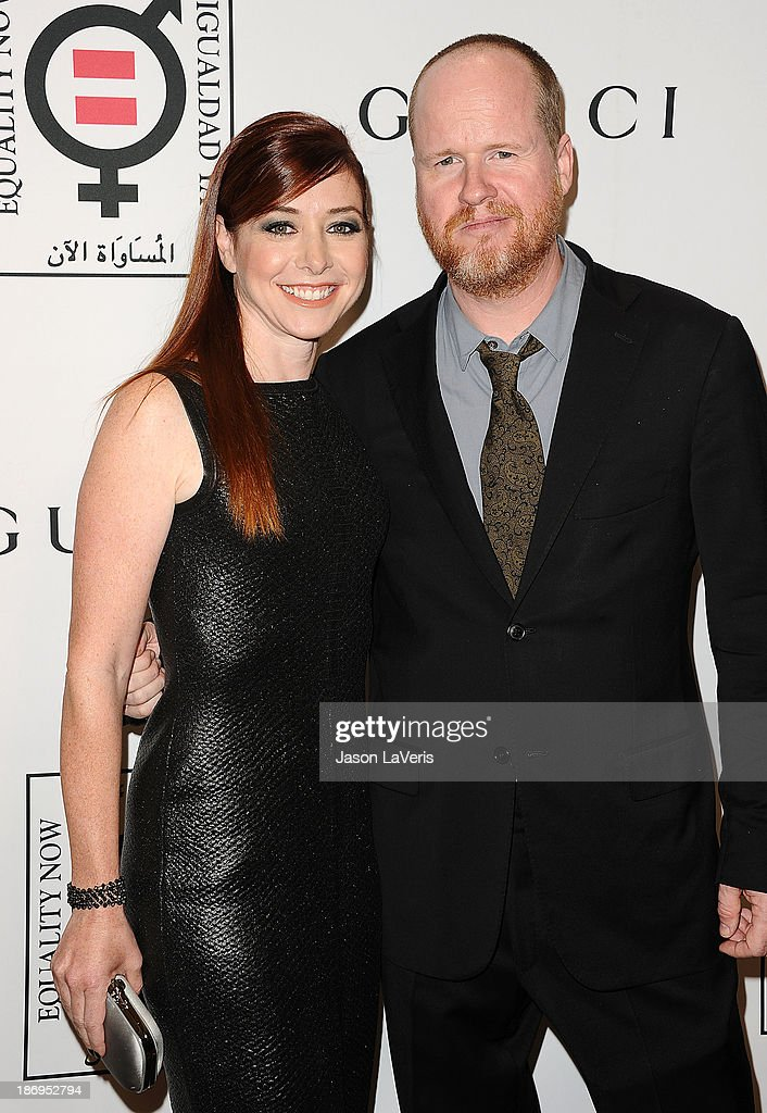 Actress Alyson Hannigan and Joss Whedon attend the 'Make Equality Reality' event at Montage Beverly Hills on November 4, 2013 in Beverly Hills, California.