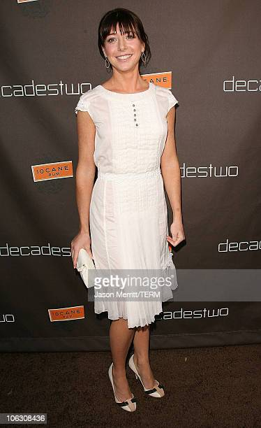 Actress Alyson Hannigan arrive at the decadestwo grand reopening celebration on July 18 2007 in Los Angeles California