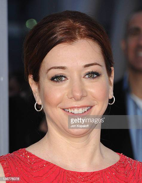 Actress Alyson Hannigan arrives at 2012 People's Choice Awards held at Nokia Theatre LA Live on January 11 2012 in Los Angeles California